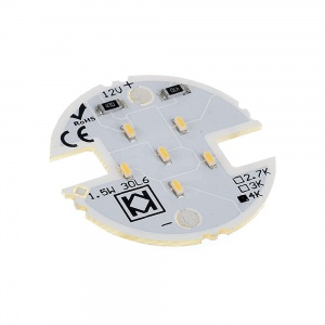 Moduł LED 6 diod - 12V 1.5W - fi30mm