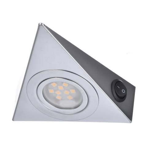Punktowa Oprawa Meblowa Led Trójkąt Aluminium 12v 2w
