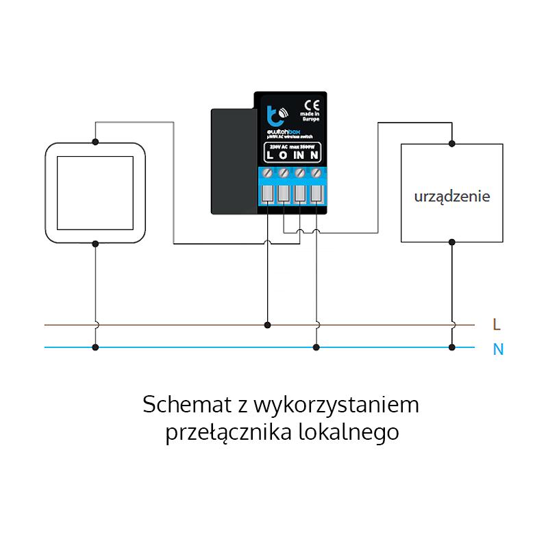 Bezprzewodowy Włącznik Oświetlenia Wi Fi 230vac16a Switchbox