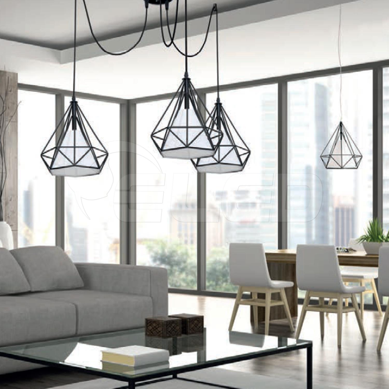 Lampa Industrialna Loft Wiszaca Triangolo 162 Milagro Lampy