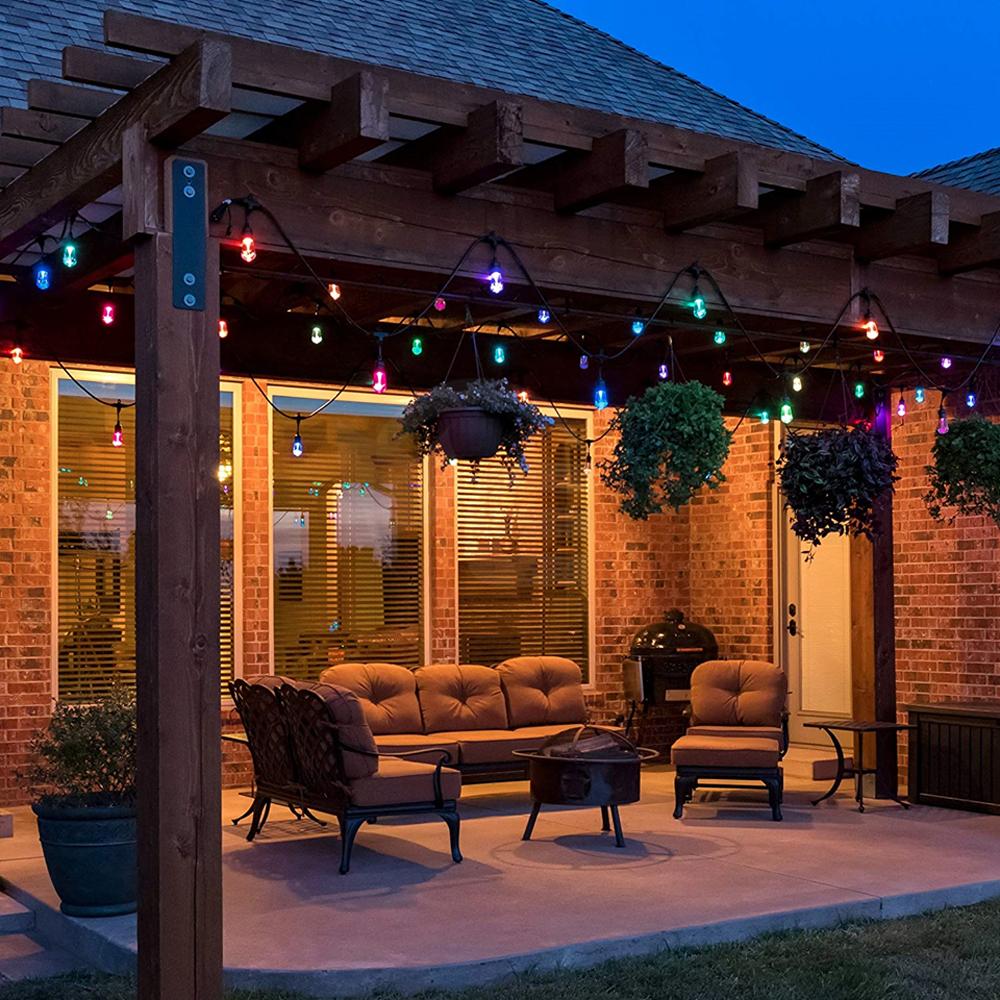 Bardzo dobry Girlanda ogrodowa 10mb z 10 żarówkami LED - E27 ST45 1,5W RYGBP TK62